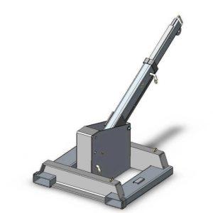 機械式固定アタッチメントキャリッジマウントフォークリフトジブクレーン